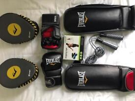 MMA KIT , shin guards, pads, mma gloves, skipping rope