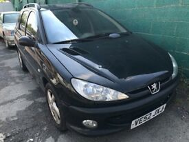 Cheap car of the day 2003 Peugeot 206 estate sw, starts and drives, MOT until 30th June, hence price