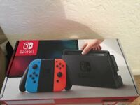 BRAND NEW Nintendo Switch with Neon Blue and Neon Red, IN BOX