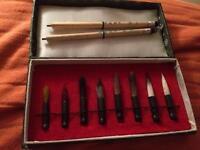 Rare Chinese calligraphy brush set