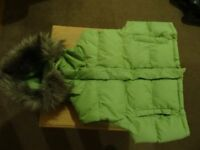 Ladies/girls DENIM/co quilted gilet. size 12