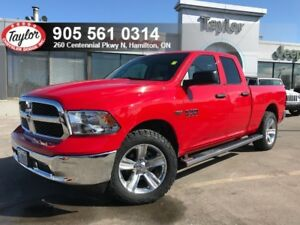 2017 Ram 1500 SXT Quad 4x4 V8 w/Backup Cam, Bluetooth, Steps, 20