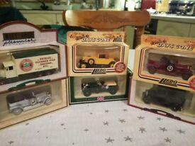 set of 6 model cars