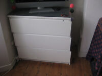 CHEST OF DRAWERS - WORKING BUT WOBBLY (SEE PICS)