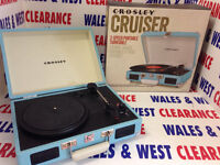 Crosley Cruiser Turntable With Three Speeds, Teal