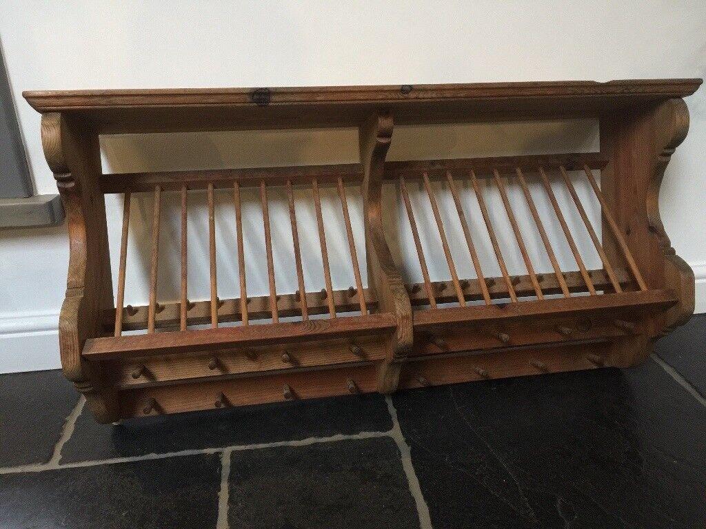 Penny pine doubleplate rack | in Exeter, Devon | Gumtree