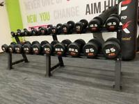 Pro Strength 2.5-25kg dumbbells set with rack brand new boxed