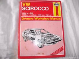VW scirrocco Haynes Manual.