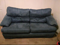 Blue 3 seater sofa £20 - collection only