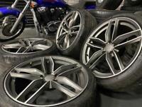 "19"" inch grey rs6 Audi alloys wheels 5x112 a3 a4 a6 tt Vw scirocco Passat cc caddy"