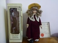 """The House Of Valentina Porcelain doll """"Wendy"""" 16"""" original box & certificate of authenticity"""