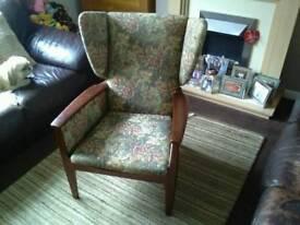 Fireside chair.