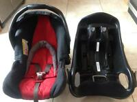 *** Mothercare Car Seat and Isofix Base Good Condition ***