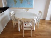 Solid White Extendable Table BJURSTA IKEA
