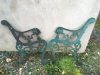Garden seat ends