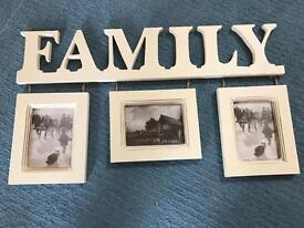 Family hanging photo frame never used