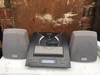 Sharp CD player, radio, Aux
