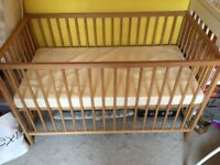 John Lewis Baby Cot with Mattress