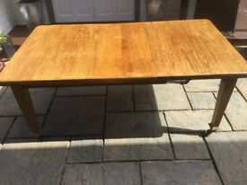 Large Victorian Solid Oak Extending Dining Table
