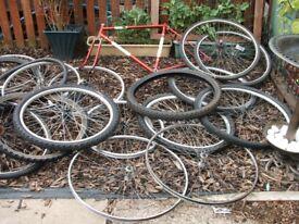 job lot of bicycle stuff