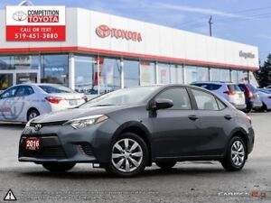 2016 Toyota Corolla LE Toyota Certified, No Accidents, Former...