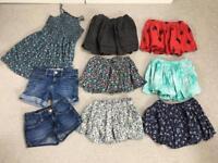 Gap girl skirts, denim shorts, dress. 4/5 yrs