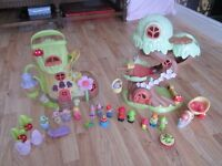 ELC Happy Land Forest Fairy Treehouse & Fairy Bluebell Boot Complete + Extra Figures & Furniture.