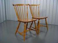 Two Ercol Dining Chairs Retro Vintage Furniture