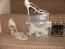 Shoes, fasinator and Jewellery