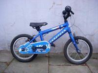 "Kids Bike,Ridgeback , Blue, 14 "" Wheels Great for Kids 4 + Years, JUST SERVICED/ CHEAP PRICE!!!!!!!!"