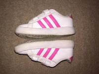 Toddler girls adidas trainers size 8