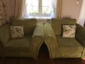 Cuddle chair & arm chairs
