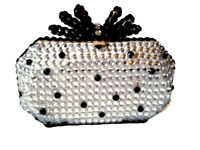 Clutch Bag with Customised with Black and Silver Gems!