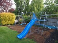 TP Tripple Swing with Climbing Frame Attachment & Slide