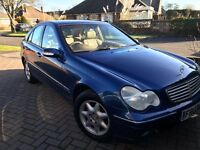 Mercedes C220D, one previous owner, full service history, 10 months MOT