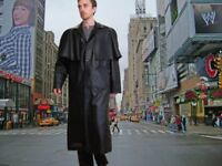 Mens Leather 55 inch long MATRIX Leather coat 48 inch chest.