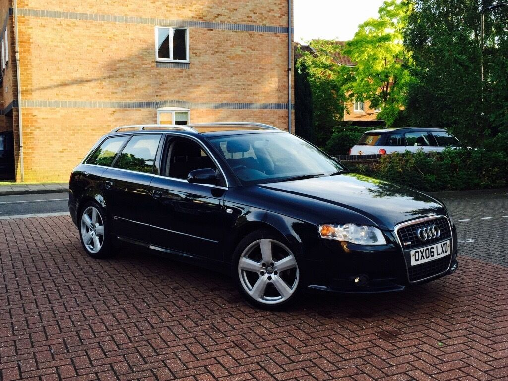 audi a4 avant s line tdi auto 5 door estate 2006 in black. Black Bedroom Furniture Sets. Home Design Ideas