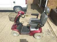 Mobility scooter shop rider deluxe very comfortable, large wheels drives very smoothly good order