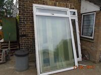 WINDOWS X 2 UPVC DOUBLE GLAZED 2360mm HIGH X 1460mm WIDE