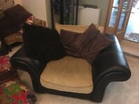 Very comfortable sofa and matching armchair