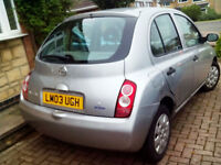 Nissan New Shape 2003 999cc Metallic Silver Ideal First Car Low Insurance Group - Needs TLC