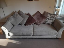 DFS 2 x 3 seater SOFA, Poof and Huddle Sofa
