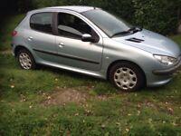 !!!!!!!bargin pegout 206 1.2 petrol manual 5 door 53k with full history long mot £495!!!!!!!!!