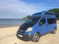 2008 Vauxhall Vivaro high-top 4 berth campervan. 4 belted seats. 12 months MOT. Lovely to drive.