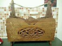 Wooden Detailed Clothespin Basket
