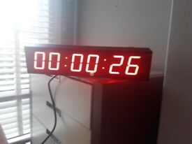Electronic Digital Wall Clock (Brand new). Precision timing. Countdown timer