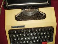Robotron yellow typewriter