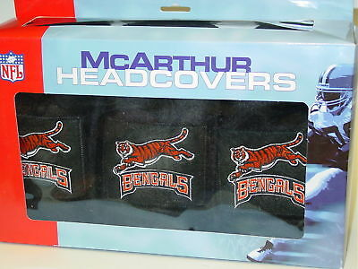 NFL 3pc Golf Club Headcover Set, Cincinnati Bengals, NEW Cincinnati Bengals Golf Headcover