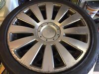 Audi VW Transporter T4 T5 5 stud multifit alloys x4 235/40/18 good tyres alloys scuffed