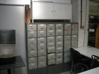 A uthenticVintage metal storage cabinets